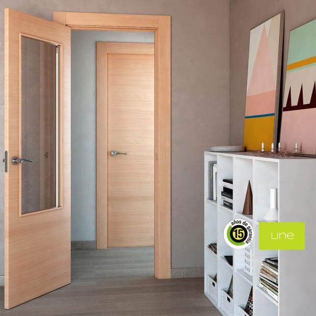 Puertas de interior de madera leroy merlin - Puertas de haya vaporizada ...