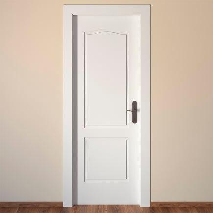 Puerta de interior praga blanca ref 14995225 leroy merlin for Puertas rusticas exterior leroy merlin