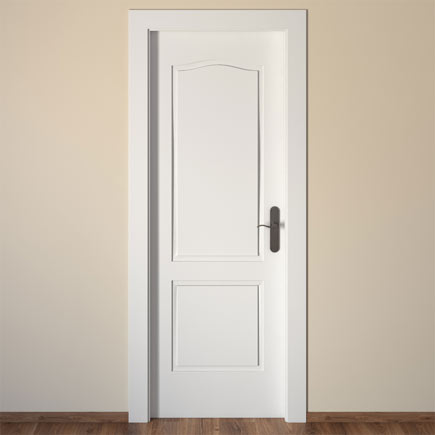 Puerta de interior praga blanca ref 14995246 leroy merlin - Puertas interior blancas ...