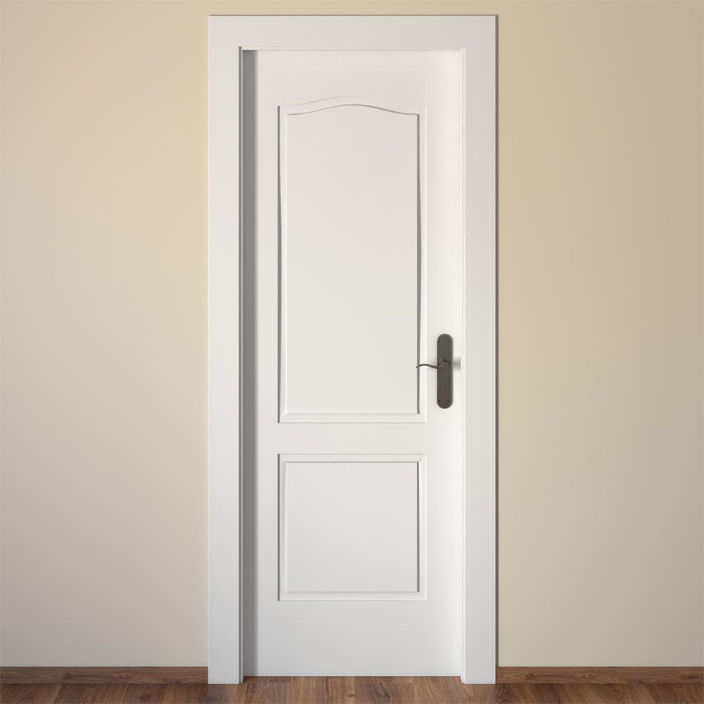 Puerta de interior praga blanca ref 14995246 leroy merlin - Topes para puertas leroy merlin ...