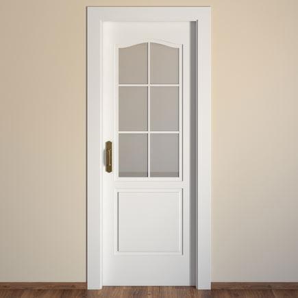 Puerta de interior con cristal praga blanca ref 15718633 - Puertas interior cristal ...