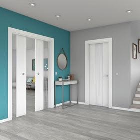 Puertas de interior de madera leroy merlin - Decoracion combinar suelo y puertas ...