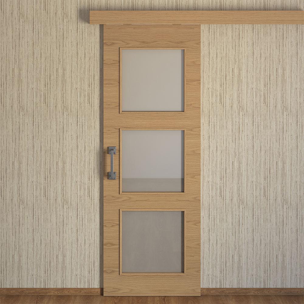Puerta De Interior Con Cristal Viena Roble Ref 15721860
