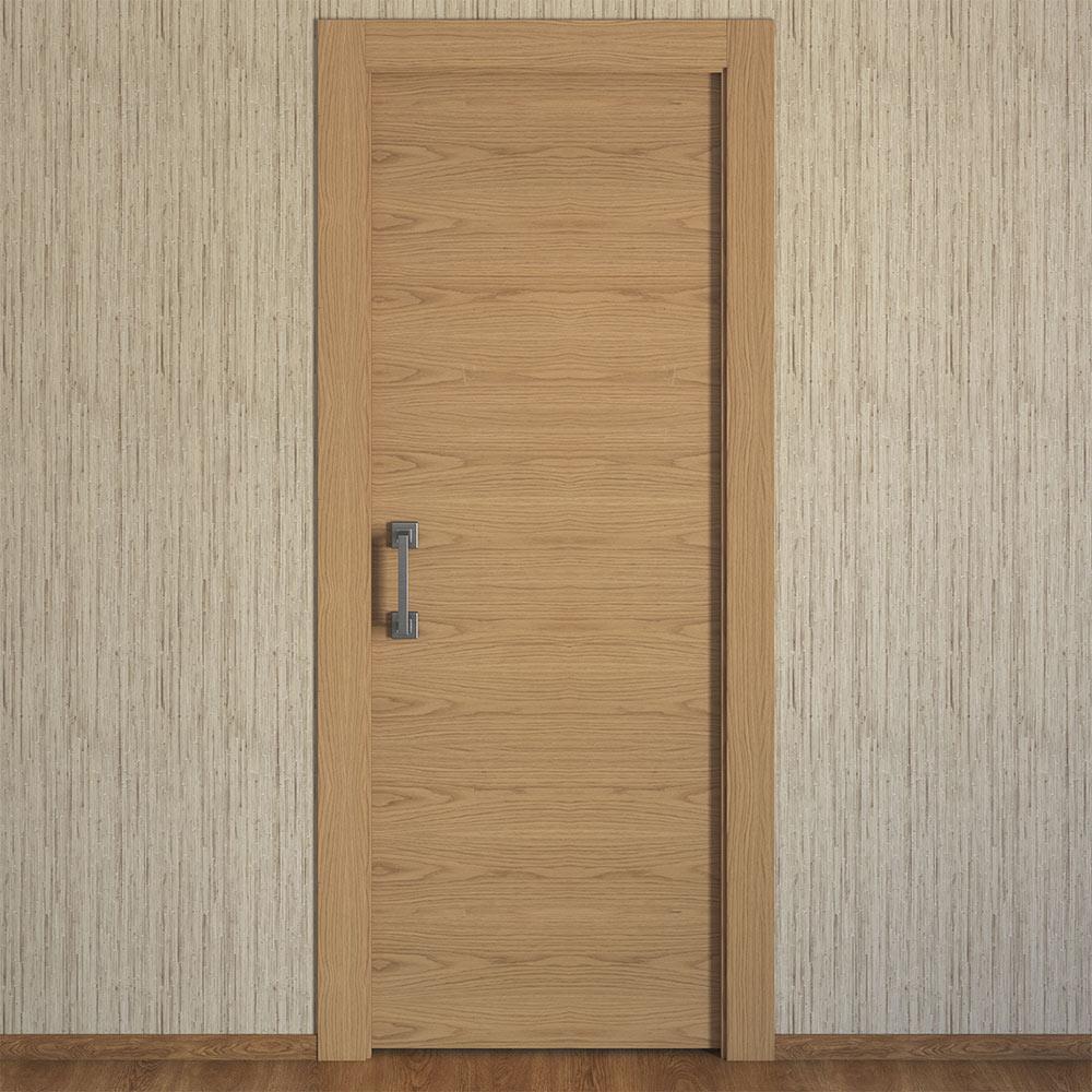 Puerta de interior maciza viena roble ref 15721923 for Puertas de roble para interior