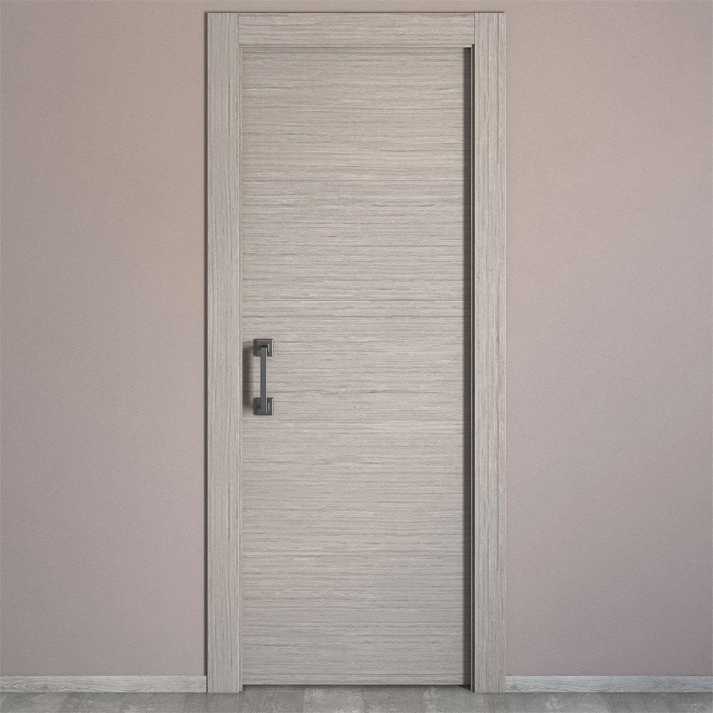 Puerta de interior maciza viena roble gris ref 16779056 for Puertas de roble interior