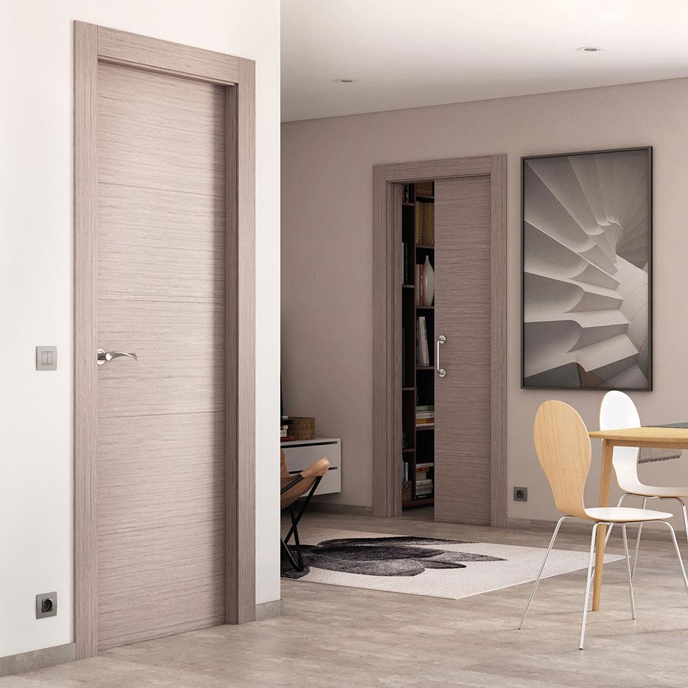 Puerta de interior maciza viena roble gris ref 16779063 leroy merlin - Color puertas interiores ...