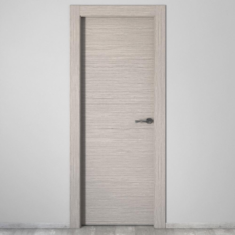 Puerta de interior maciza viena roble gris ref 18094902 leroy merlin - Puertas madera leroy merlin ...