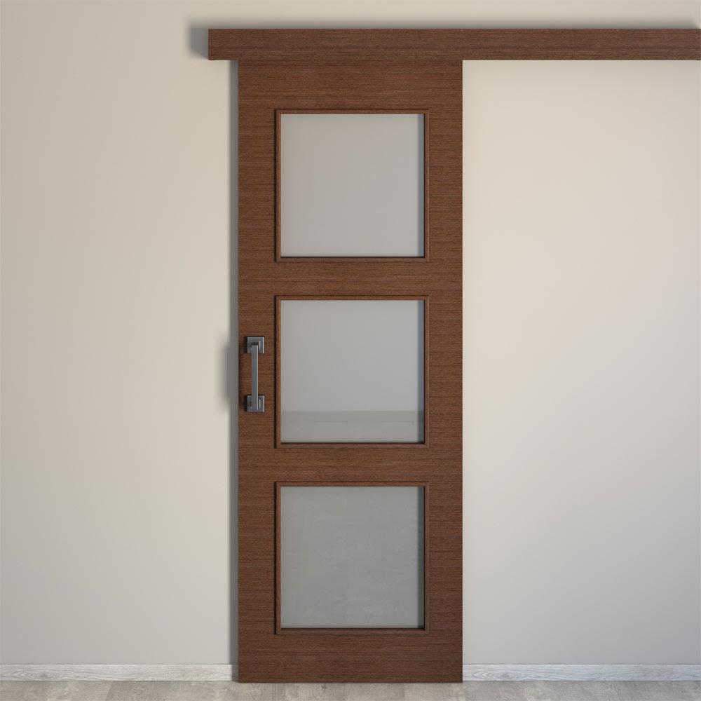 Puerta de interior con cristal viena wengue ref 16778643 for Puertas leroy merlin