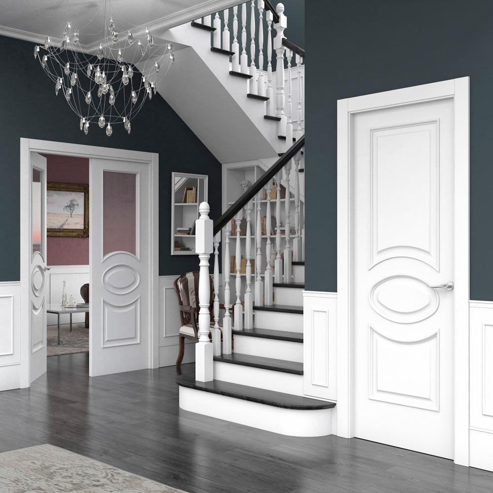 Puerta De Interior Con Cristal Violin Blanca Ref 18080076