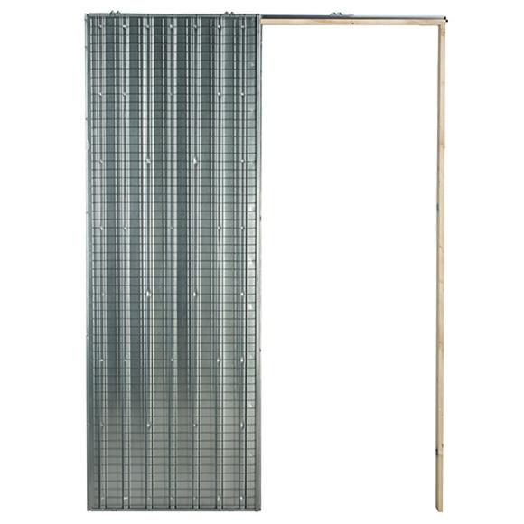 Gu a encastrable puerta 60 cm ladrillo ref 15728881 leroy merlin - Guia para puerta corredera ...