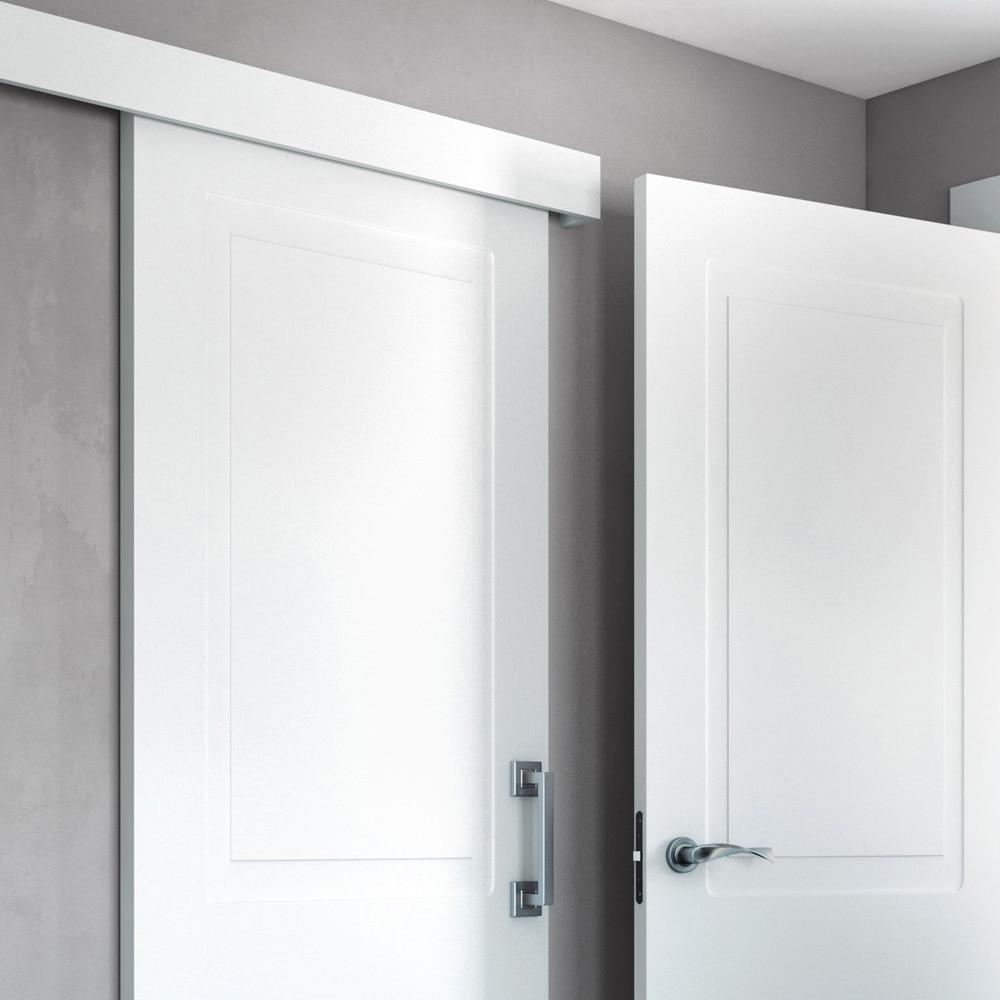 Kit gu a pared con embellecedores y tapa kit gu a lacada blanca ref 19127136 leroy merlin - Carril puerta corredera ...