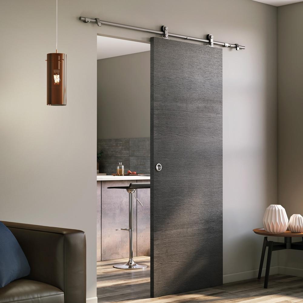 Gu a para puerta corredera toledo inox 180 cm ref - Puertas de aluminio leroy merlin ...