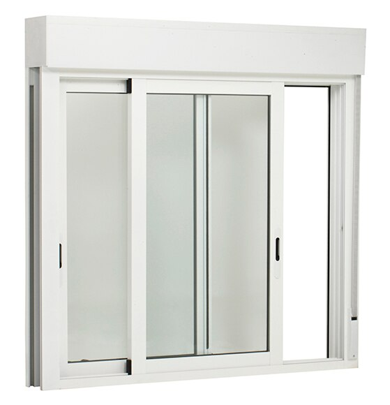 Ventana aluminio corredera de 100 x 115 cm 2 hojas - Leroy merlin ventanas de aluminio ...