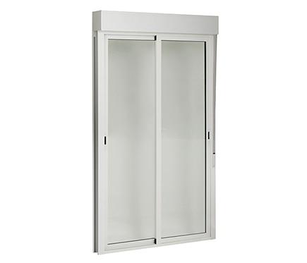 Balconera aluminio corredera de 130 x 228 5 cm balconera - Leroy merlin ventanas de aluminio ...