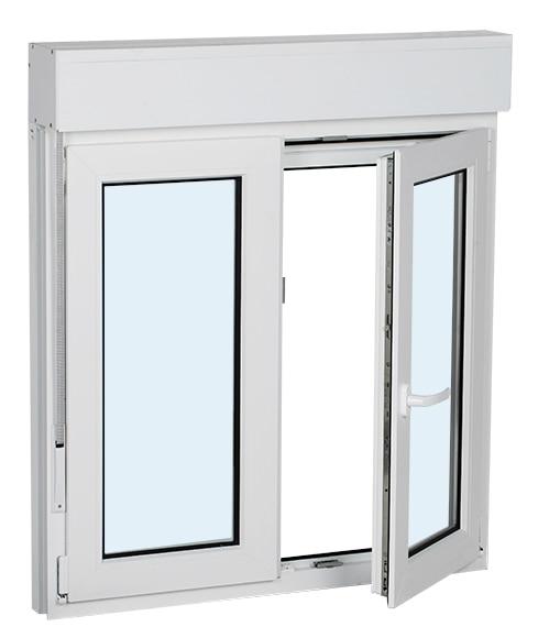 ventana pvc oscilobatiente 100 x 115 cm 2 hojas