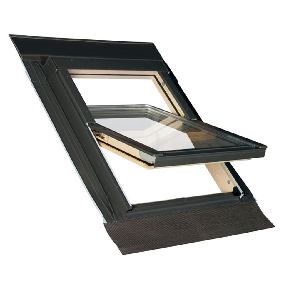 Ventana de techo y tapajuntas giratoria madera tapajuntas integrado ftk v u2 ref 16305793 - Tapajuntas puertas leroy merlin ...