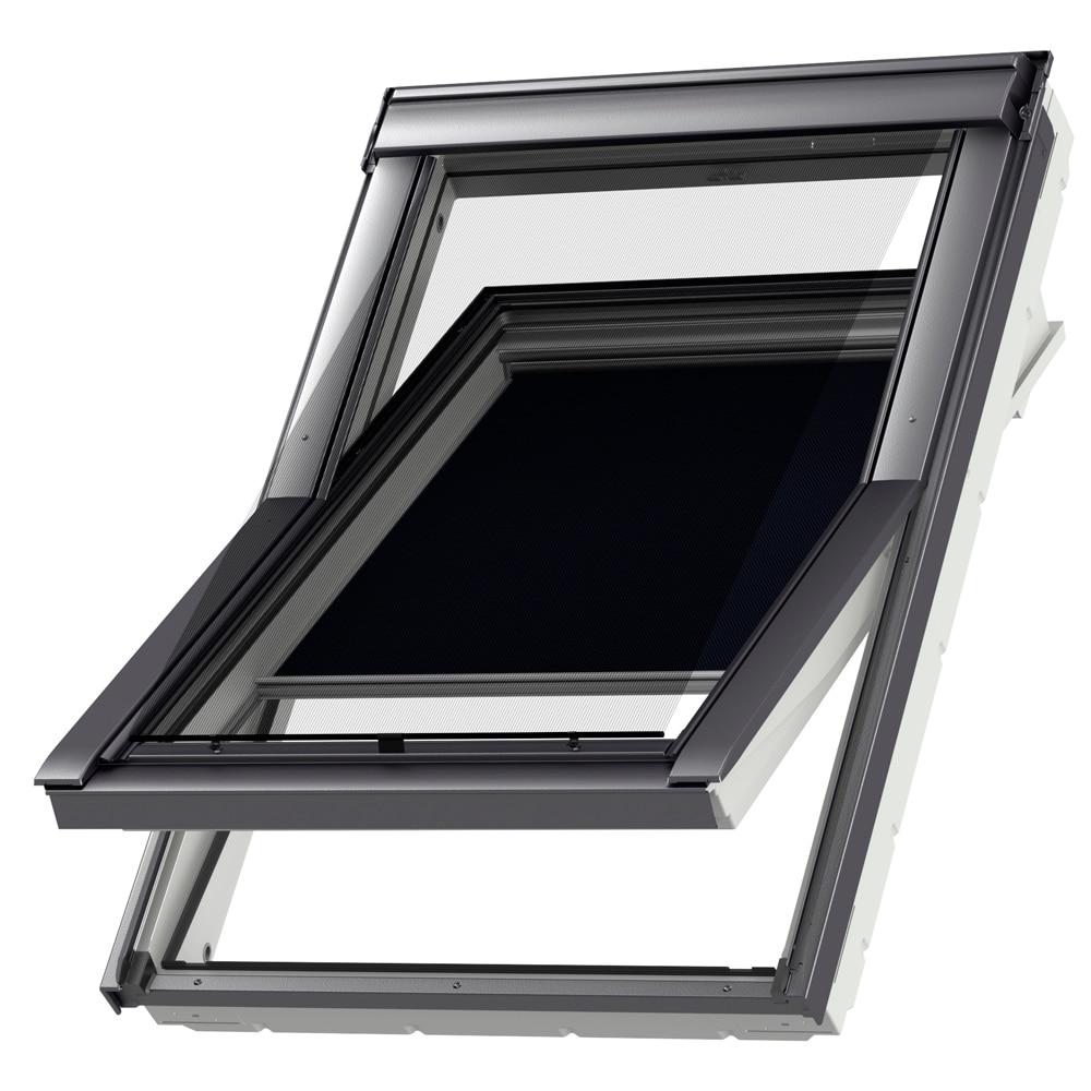 cortina ventana de techo velux manual azul marino dkl 1100 oscurecimiento ref 12914783 leroy. Black Bedroom Furniture Sets. Home Design Ideas