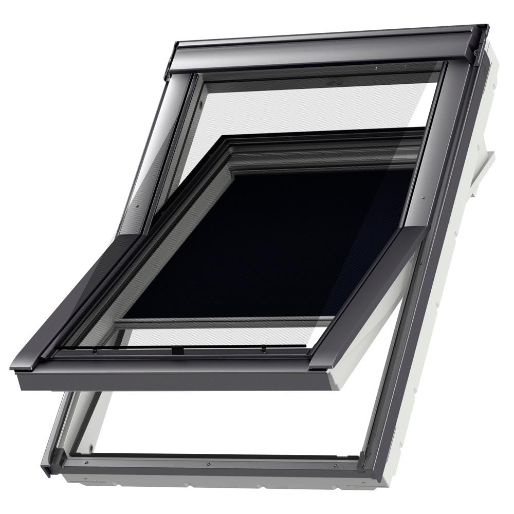 Cortina ventana de techo velux manual azul marino dkl 1100 for Pladur leroy merlin techo