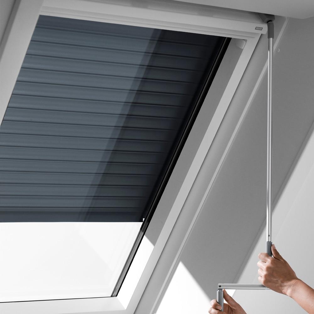persiana ventana de techo velux manual manivela gris scl. Black Bedroom Furniture Sets. Home Design Ideas