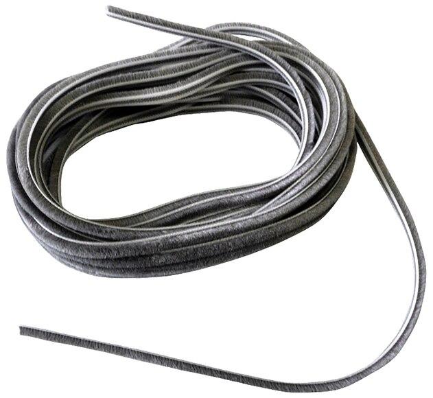 Burlete adhesivo con flecos bresme rail 6 mm ref 11650611 - Burletes para puertas leroy merlin ...