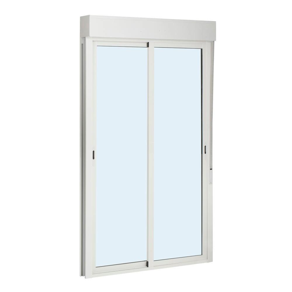 Balconera aluminio 2 hojas corredera persiana leroy merlin for Mosquiteras puertas abatibles terraza