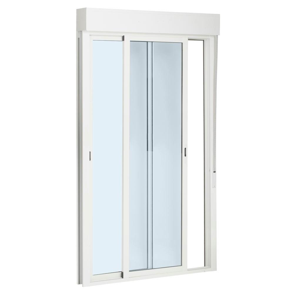 Balconera aluminio 2 hojas corredera persiana leroy merlin for Puertas aluminio leroy merlin