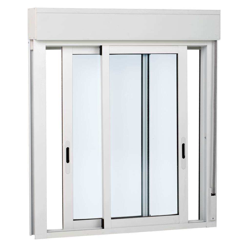 Ventana ventana aluminio 2hojas corredera persiana ref for Zocalo aluminio cocina leroy merlin