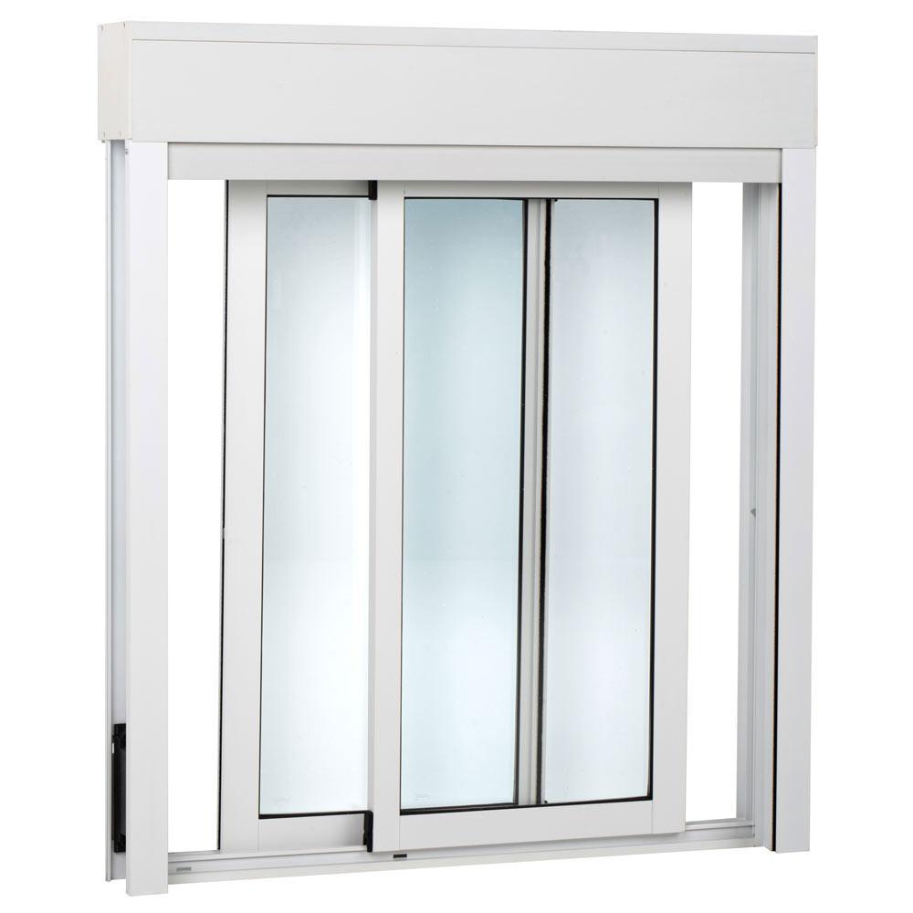 Ventana ventana aluminio 2hojas corredera persiana ref for Ventana corredera pvc