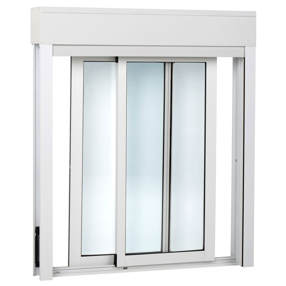 Ventana ventana aluminio 2hojas corredera persiana ref for Precios de ventanas con persianas
