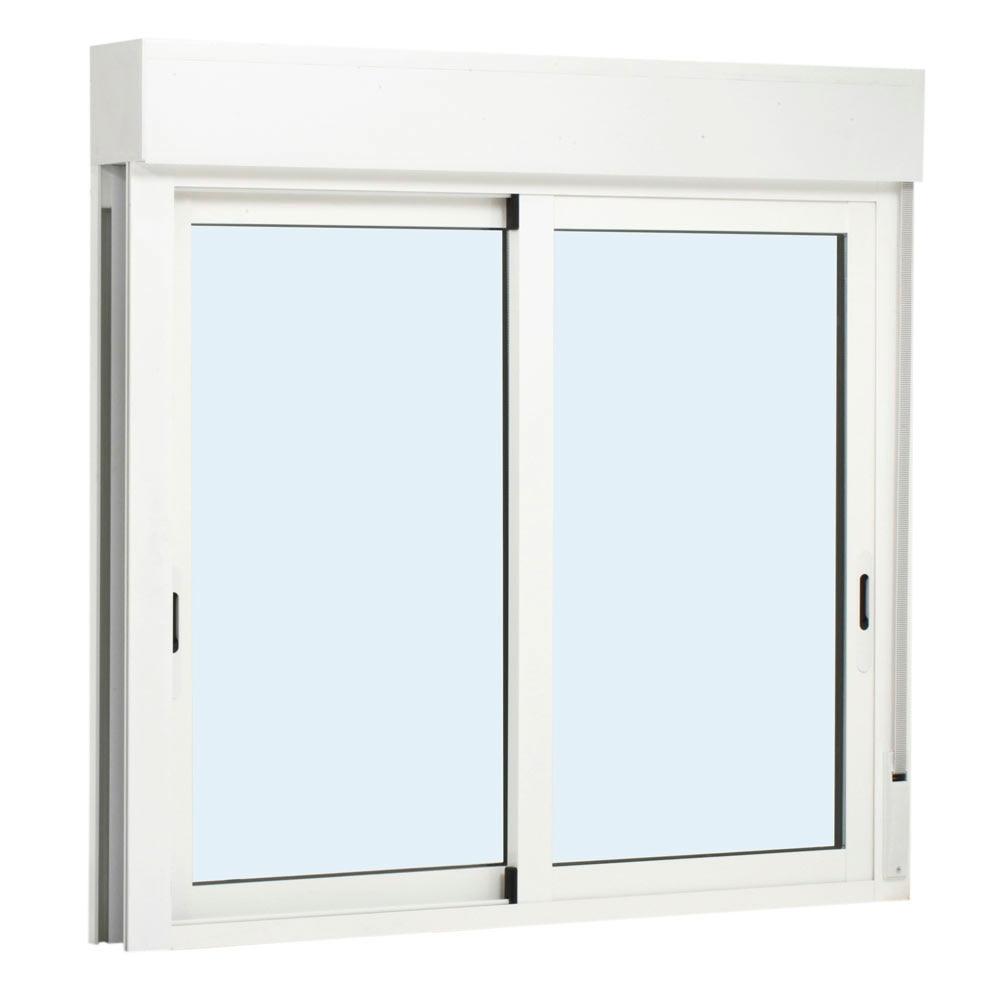 Ventana ventana aluminio 2hojas corredera persiana ref for Puertas aluminio leroy merlin