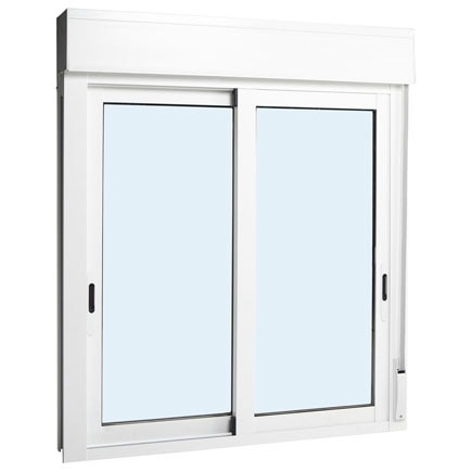 Ventana aluminio 2hojas corredera persiana leroy merlin for Puertas ventanas de aluminio medidas