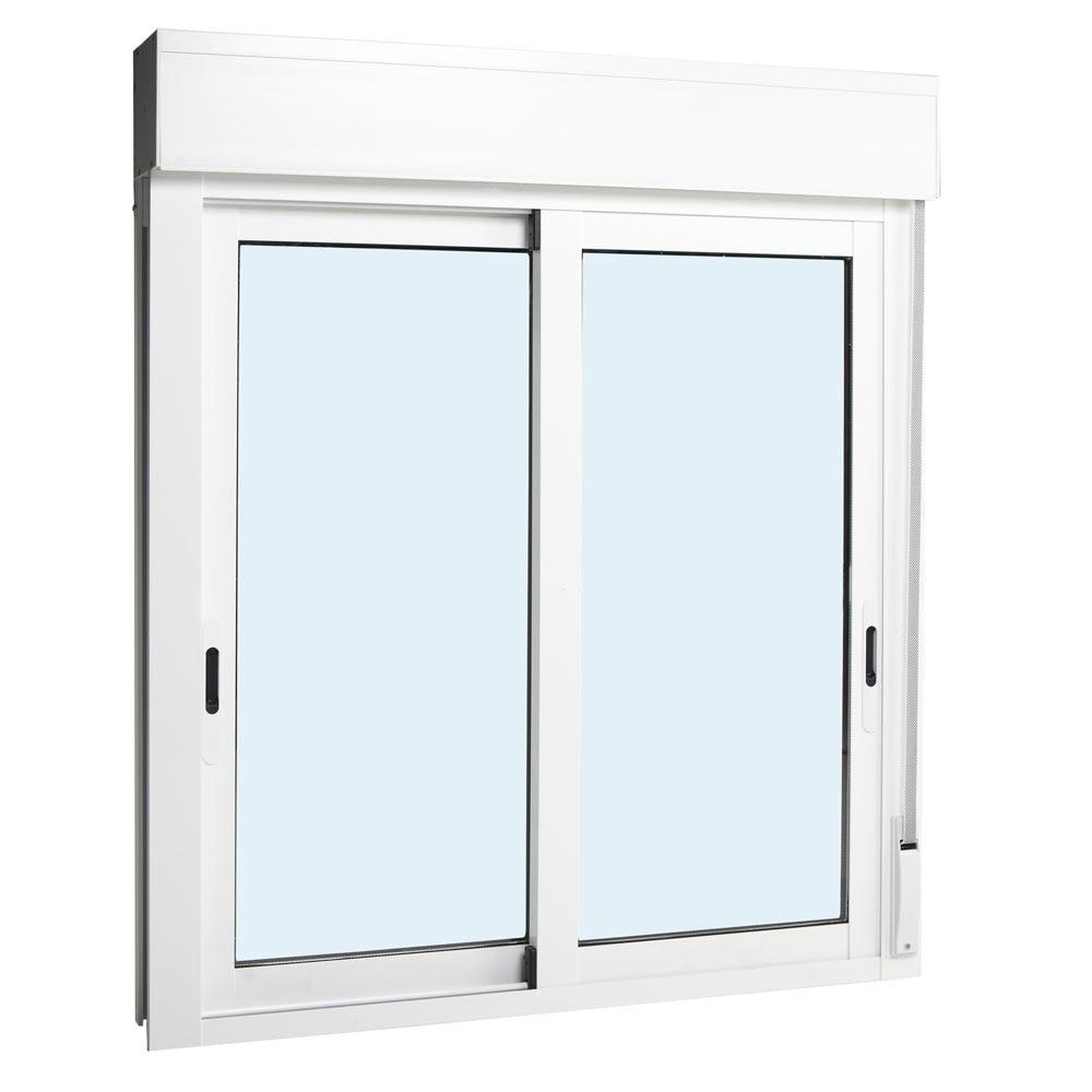 Ventana ventana aluminio rpt 2hojas corredera persiana ref for Puertas aluminio leroy merlin