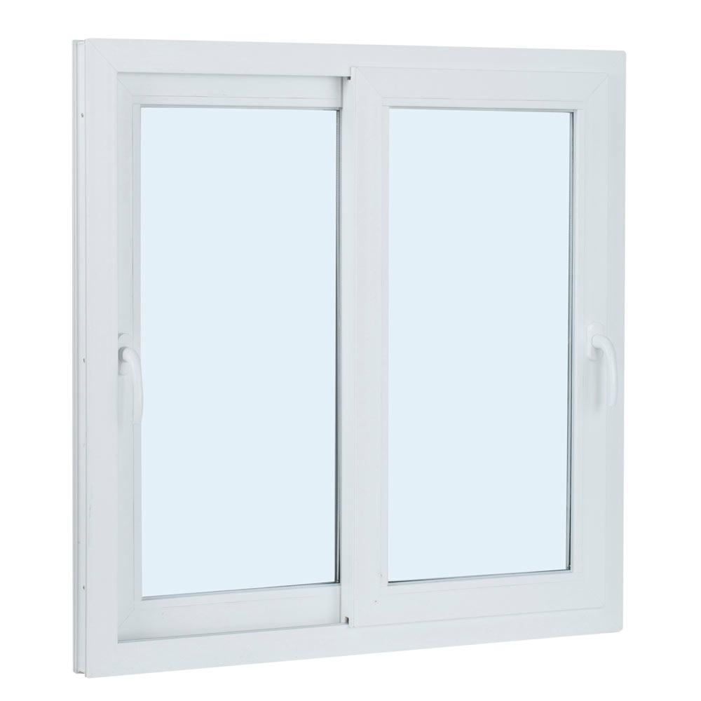 Ventana ventana pvc 2hojas corredera ref 15914080 leroy - Celosias pvc leroy merlin ...