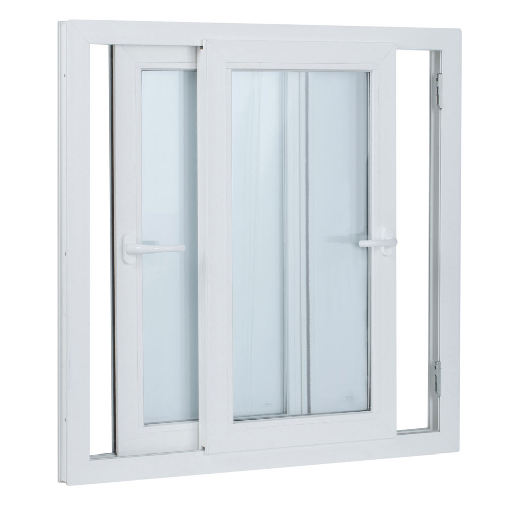 Ventana ventana pvc 2hojas corredera ref 15914080 leroy - Ventanas de pvc en cantabria ...