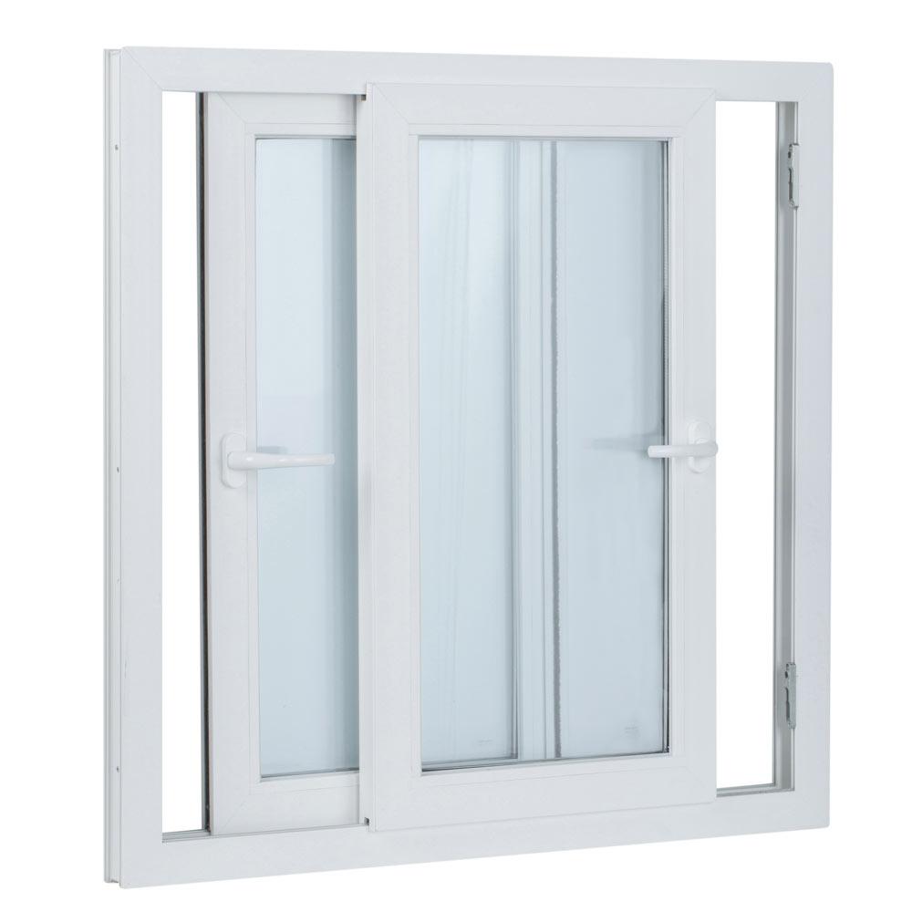 Ventana ventana pvc 2hojas corredera ref 15914094 leroy for The ventana