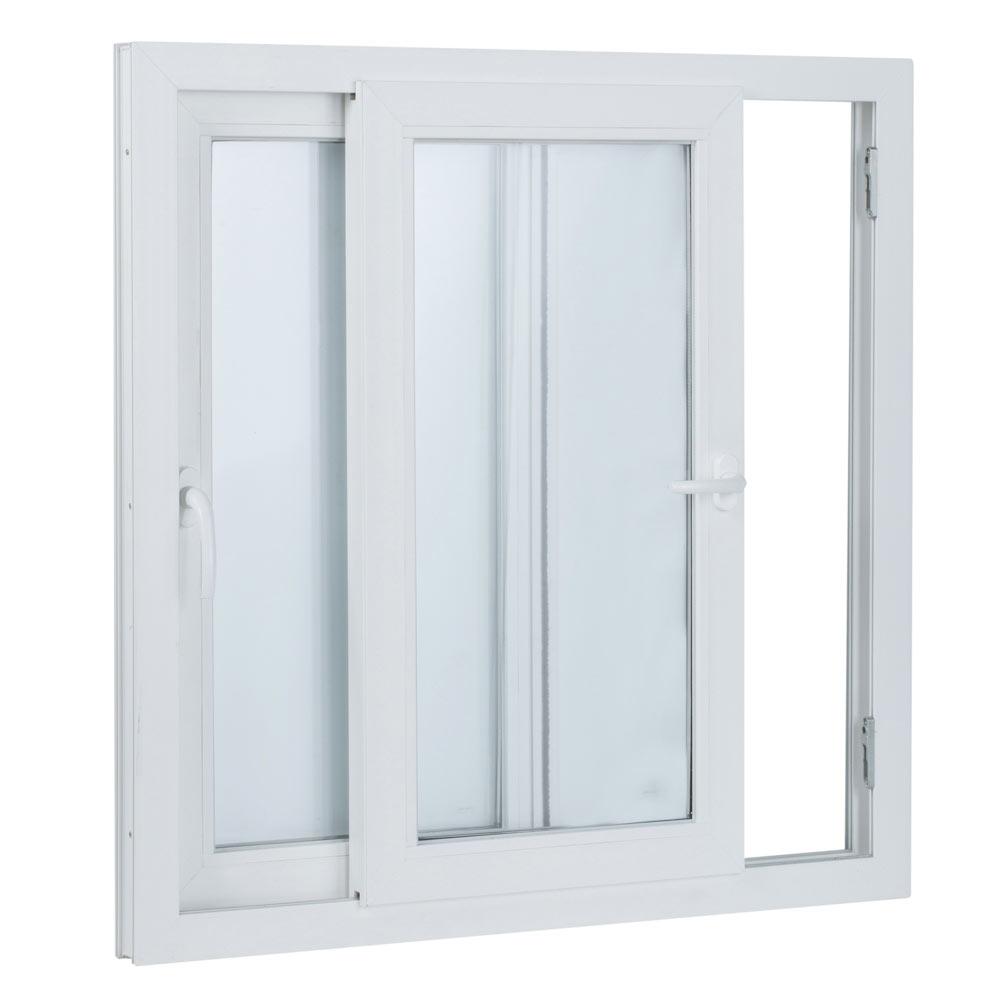Ventana ventana pvc 2hojas corredera ref 15914101 leroy - Friso pvc leroy merlin ...