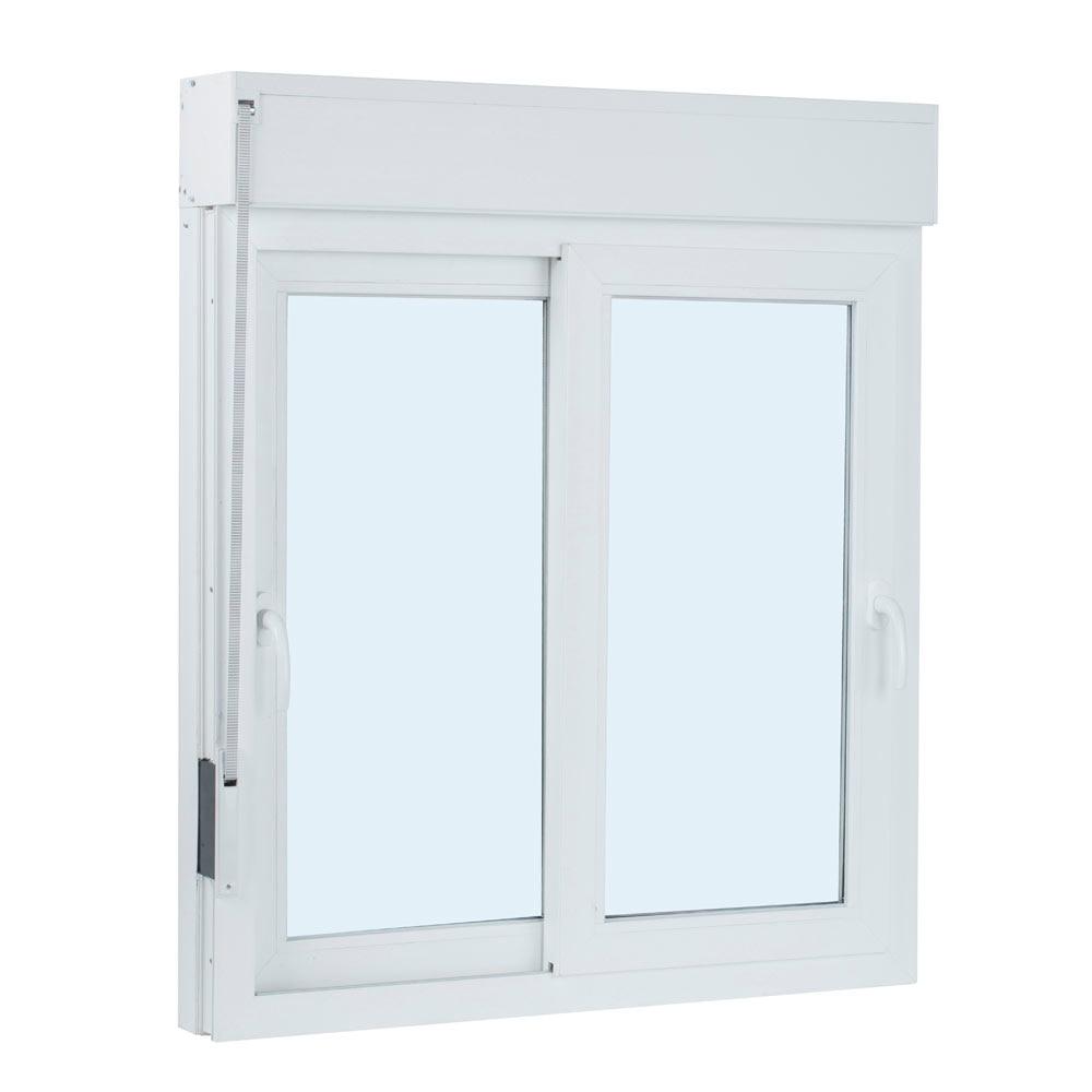 Ventana ventana pvc 2hojas corredera persiana ref for Pvc o aluminio precios
