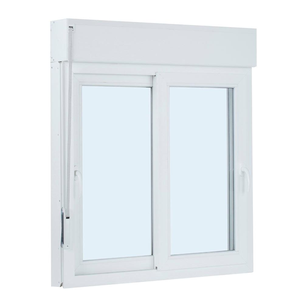 Ventana ventana pvc 2hojas corredera persiana guia mos ref for Pvc o aluminio precios