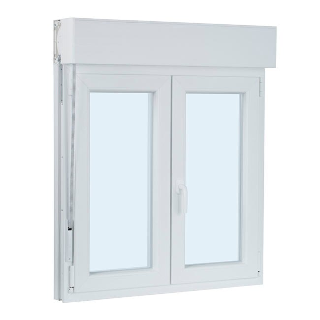 Ventana ventana pvc 2hojas oscilo persiana ref 17987340 - Leroy merlin persianas ...
