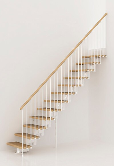 Escalera recta kit long recta ref 13927221 leroy merlin for Escaleras de interior precios