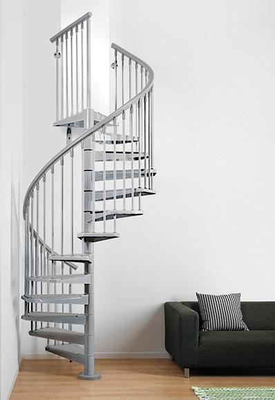 Escalera de caracol kit steel ref 14129591 leroy merlin - Cerrar escalera caracol ...