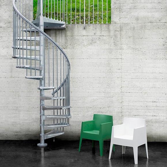 Escalera de caracol kit steel zink ref 14129766 leroy for Ver escaleras de caracol