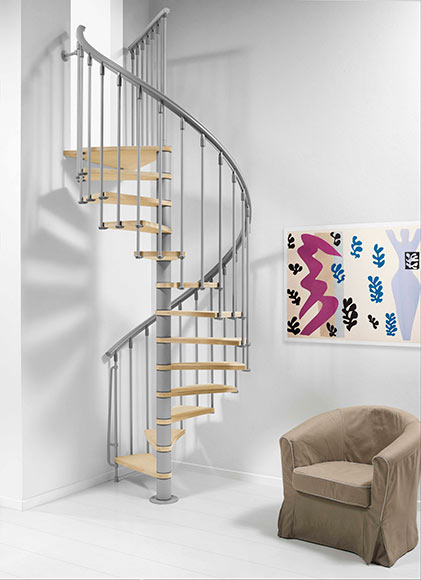 Escalera de caracol nice ref 14608216 leroy merlin for Figuras decorativas jardin leroy merlin
