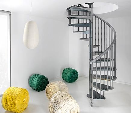 escalera de caracol steel ref 14129591 leroy merlin