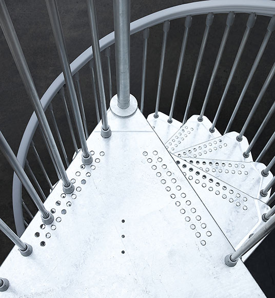 Escalera de caracol steelzink ref 14129752 leroy merlin - Barandillas exterior leroy merlin ...