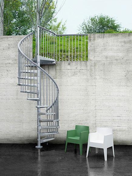 Escalera de caracol steelzink ref 14129766 leroy merlin - Medidas escaleras de caracol ...
