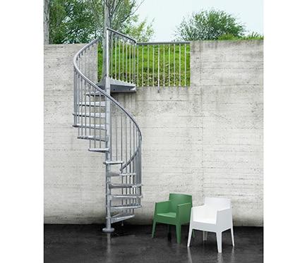Escalera de caracol steelzink ref 14129773 leroy merlin for Ver escaleras de caracol