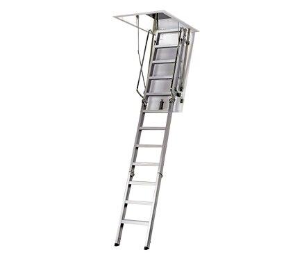 Escalera escamoteable aluminio ref 15119552 leroy merlin - Escaleras interiores leroy merlin ...