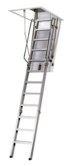 Escalera escamoteable aluminio ref 15119552 leroy merlin - Escaleras de madera leroy merlin ...