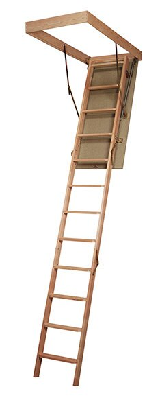Escalera escamoteable madera ref 15736112 leroy merlin - Tablon madera leroy merlin ...